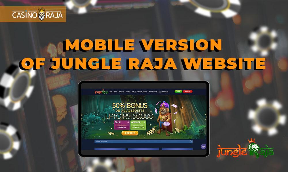 Mobile version of Jungle Raja website