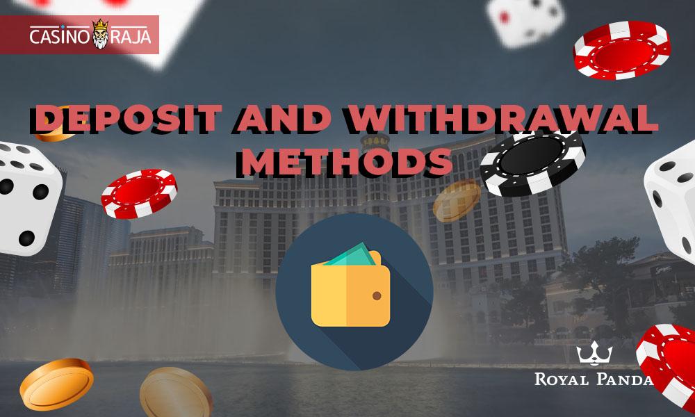Deposit and withdrawal methods at Royal Panda